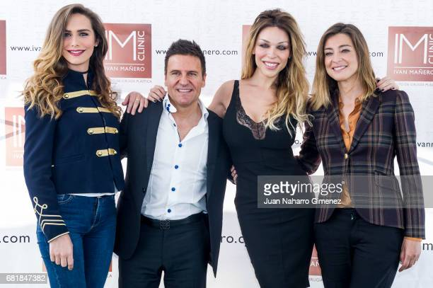 Angela Ponce Ivan Manero Vittoria Schisano and andra Barneda attend 'IMCLINIC' 15th Anniversary photocall at Hotel Room Mate Oscar on May 11 2017 in...
