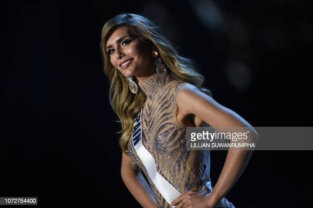 Angela Ponce of Spain competes in the evening gown competition during the 2018 Miss Universe pageant in Bangkok on December 13 2018