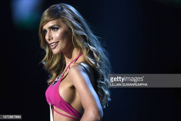 Angela Ponce of Spain competes in the swimsuit competition during the 2018 Miss Universe pageant in Bangkok on December 13 2018