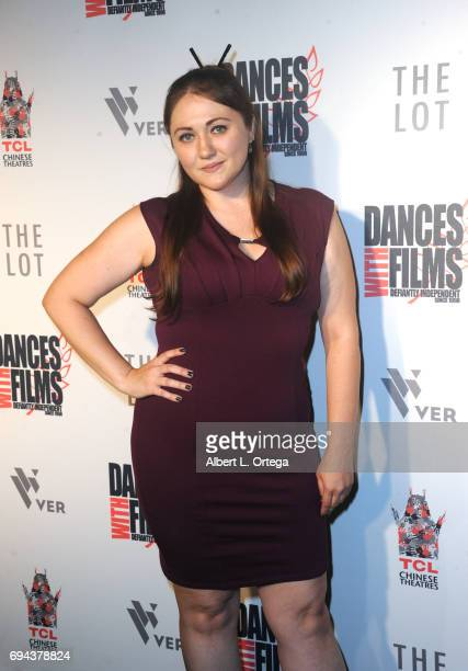 Angela Pritchett arrives for the World Premiere Of 'The Best Words' A Mockumentary as part of Dances With Films 20 held at TCL Chinese Theatre on...