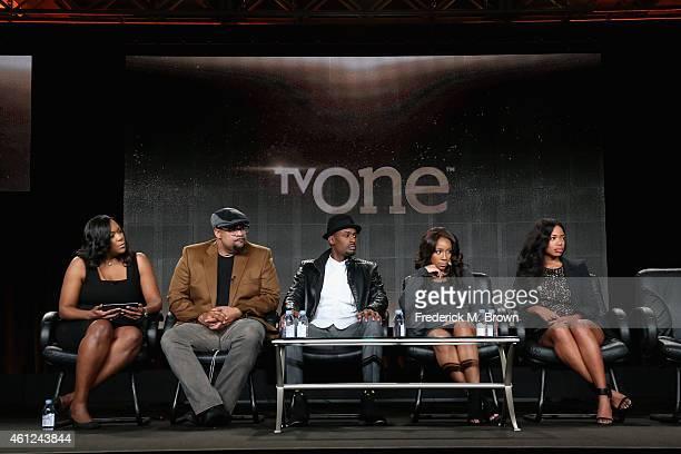 D'Angela Proctor SVP Programming and Production TV One Writer/Director Russ Parr actors Richard T Jones Jahnee Wallace and Jill Marie Jones speak...