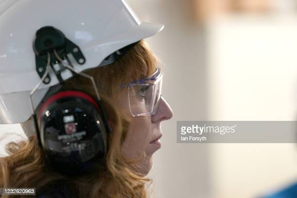 Angela Rayner, Deputy Leader and Chair of the Labour Party, visits the Liberty Steal Mill on May 01, 2021 in Hartlepool, United Kingdom. The leader...
