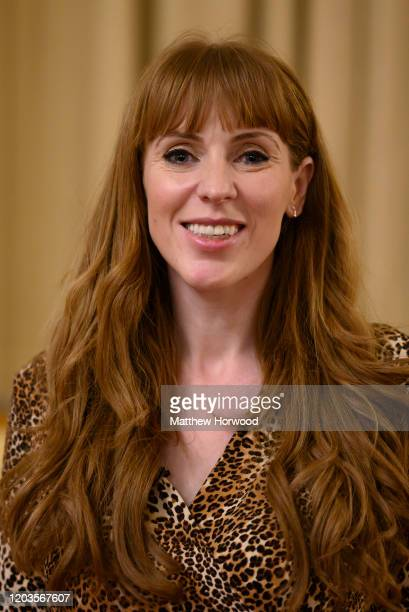 Angela Rayner poses for a photograph at the Labour Leadership Hustings at Cardiff City Hall on February 2 2020 in Cardiff Wales Angela Rayner MP for...