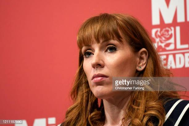 Angela Rayner Shadow Secretary of State for Education addresses the audience during the last Labour Party Deputy Leadership hustings at Dudley Town...