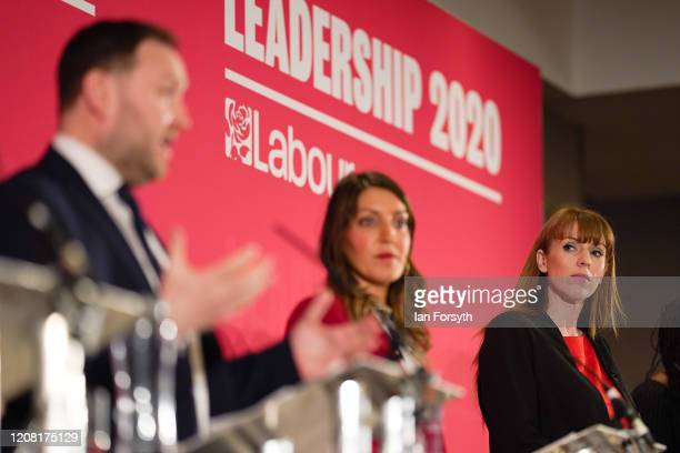 Angela Rayner Shadow Secretary of State for Education and Dr Rosena AllinKhan MP for Tooting listen as Ian Murray MP for Edinburgh South speaks...