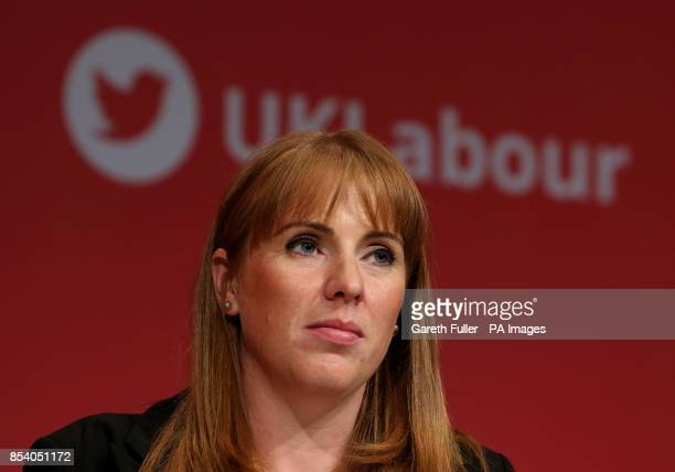 Angela Rayner Shadow Secretary of State for Education before addressing the Labour Party annual conference at the Brighton Centre Brighton
