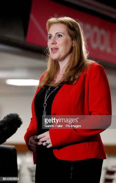 Angela Rayner Shadow Secretary of State for Education takes part in morning media interviews ahead of the final day of the Labour Party annual...