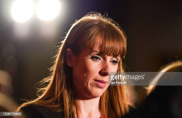 Angela Rayner Shadow Secretary of State for Education talks to audience members during the Labour Party Deputy Leadership hustings at the Radisson...