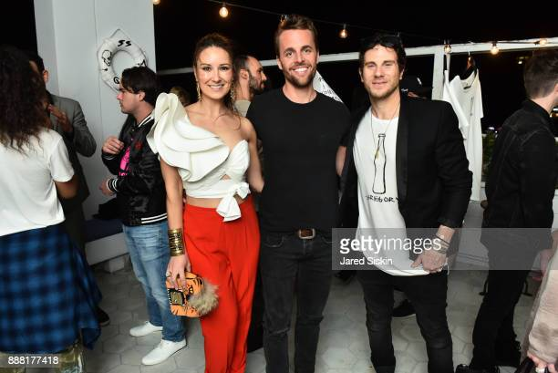 Angela Redai Brent Barnhart and Gregory Siff attend 4AM Presents Crash This A Private Exhibition Of New Paintings By Gregory Siff at Soho House Miami...