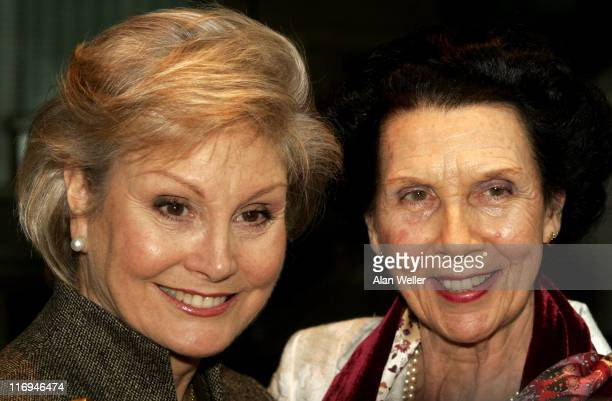 Angela Rippon and Dame Beryl Grey during Critics' Circle National Dance Awards 2006 at Vilar Floral Hall Royal Opera House in London Great Britain