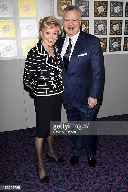 Angela Rippon and Eamonn Holmes arrive at the TRIC Television and Radio Industries Club Awards at The Grosvenor House Hotel on March 12 2013 in...