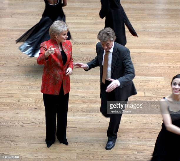 Angela Rippon and Lionel Blair during The 2005 Critics' Circle National Dance Awards at The Royal Opera House in London Great Britain