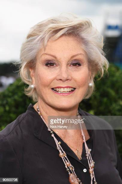 Angela Rippon at the Cartier tent during the Cartier Internaional Polo Day at Guards Polo Club on July 26 2009 in Egham England
