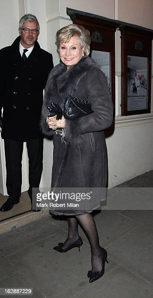 Angela Rippon at the TK Maxx fundraising cocktail party at the Royal Opera House on February 28 2013 in London England