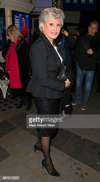 Angela Rippon attending Jersey Boys the musical at the Picadilly theatre on March 27 2014 in London England