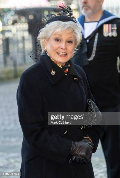 Angela Rippon attends a Service of Thanksgiving for the life and work of Sir Donald Gosling at Westminster Abbey on December 11 2019 in London England