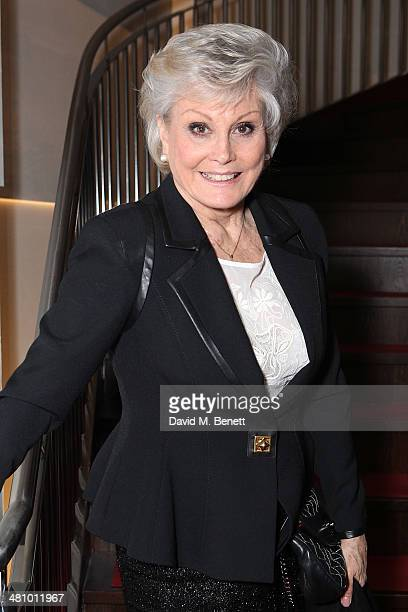 Angela Rippon attends an after party following the Gala Night performance of Jersey Boys celebrating a new venue at the Piccadilly Theatre a new cast...