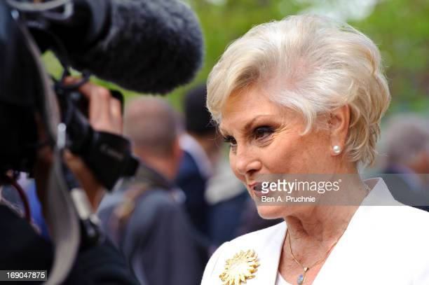 Angela Rippon attends as a blue plaque honouring Eric Morecambe and Ernie Wise is unveiled at Teddington Studios on May 19 2013 in Teddington England