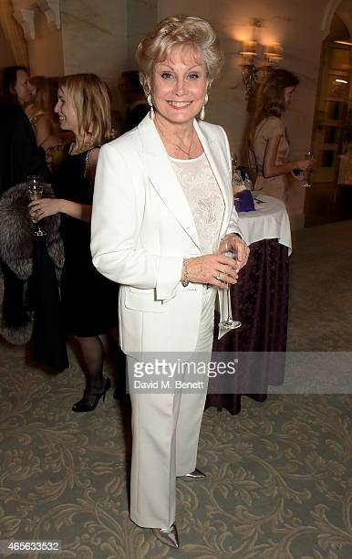 Angela Rippon attends as the London Coliseum host the 10th Anniversary of the Russian Ballet Icons Gala afterparty at The Savoy on March 8 2015 in...