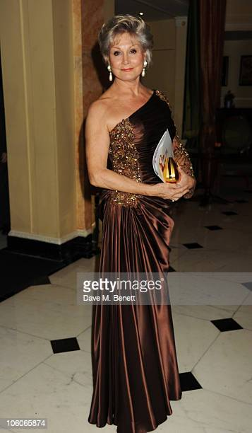 Angela Rippon attends Fashion For The Brave at The Dorchester Hotel on October 26 2010 in London England