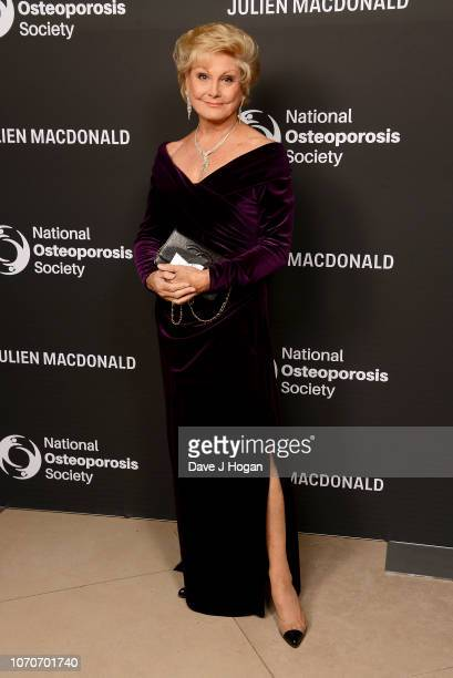 Angela Rippon attends the Julien Macdonald Fashion Show for National Osteoporosis Society at Lancaster House on November 21 2018 in London England