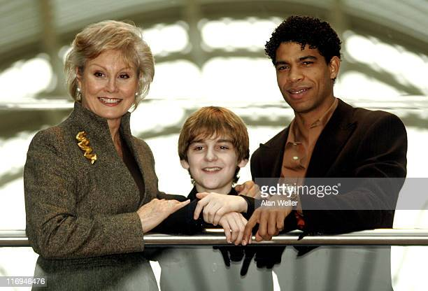 Angela Rippon Carlos Acosta and Leon Cooke during Critics' Circle National Dance Awards 2006 at Vilar Floral Hall Royal Opera House in London Great...