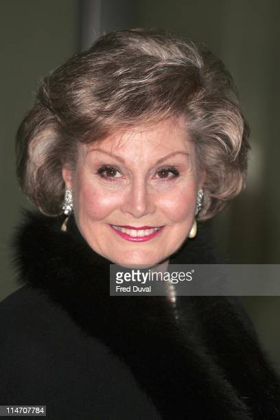 Angela Rippon during 2006 Laurence Olivier Awards Arrivals at London Hilton in London United Kingdom