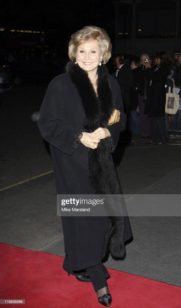 Angela Rippon during 2006 Laurence Olivier Awards - Outside Arrivals at London Hilton in London, Great Britain.