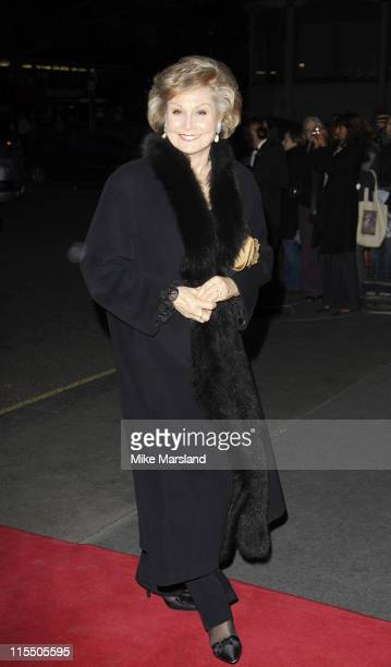 Angela Rippon during 2006 Laurence Olivier Awards Outside Arrivals at London Hilton in London Great Britain