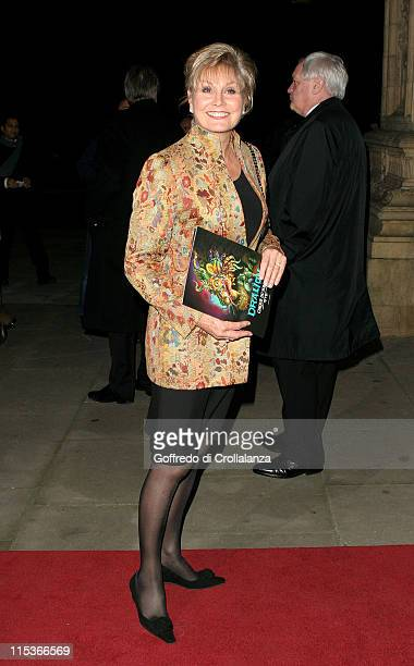 Angela Rippon during Cirque du Soleil's 20th Anniversary of 'Dralion' at Royal Albert Hall in London Great Britain