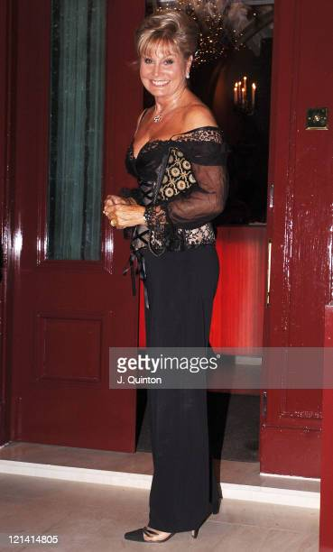 Angela Rippon during Nancy Dell'Olio Birthday Party at Mortons in London Great Britain