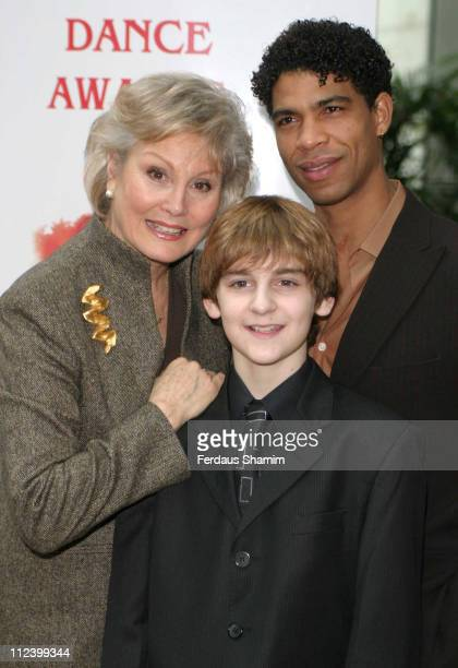 Angela Rippon Leon Cooke and Carlos Acosta during The 2006 Critics' Circle National Dance Awards at Royal Opera House in London Great Britain