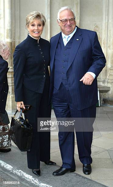 Angela Rippon Roy Hudd Attend A Memorial Service For Dame Thora Hird At London'S Westminster Abbey
