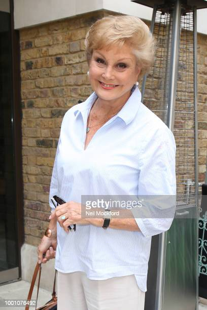 Angela Rippon seen arriving at The Devonshire Club for The Mirror's Animal Hero Awards in partnership with Webbox on July 18 2018 in London England