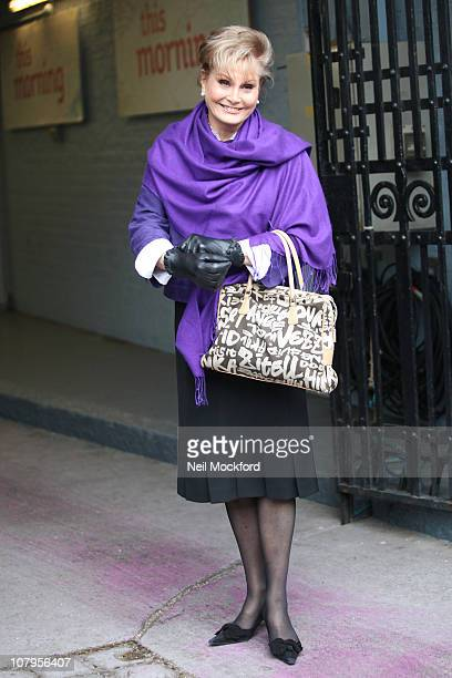 Angela Rippon sighted at The ITV Studios on January 10 2011 in London England
