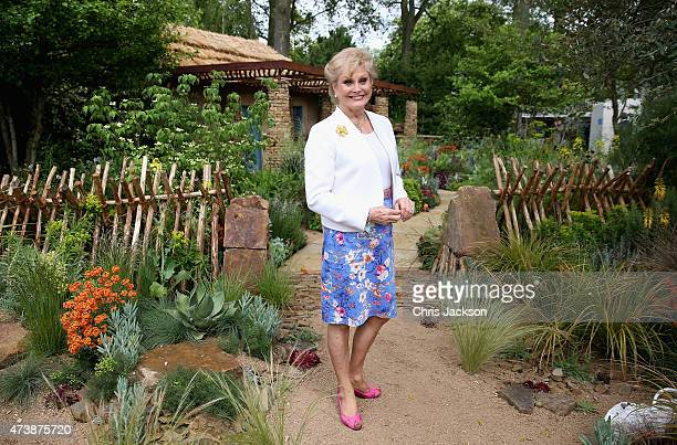 Angela Rippon visits the Sentebale 'Hope In Vunerability' Garden during the annual Chelsea Flower show at Royal Hospital Chelsea on May 18 2015 in...