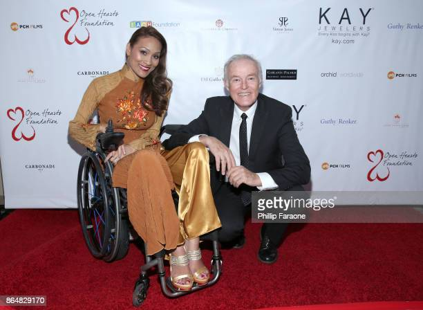 Angela Rockwood and David Richard at Jane Seymour And The 2017 Open Hearts Gala at SLS Hotel on October 21 2017 in Beverly Hills California