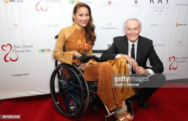 Angela Rockwood and David Richard attend the 2017 Open Hearts Gala at SLS Hotel on October 21 2017 in Beverly Hills California