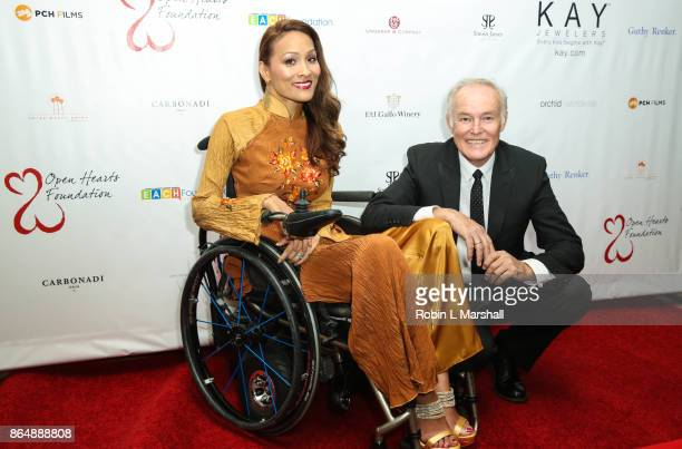 Angela Rockwood and David Richard attends the 2017 Open Hearts Gala at SLS Hotel on October 21 2017 in Beverly Hills California