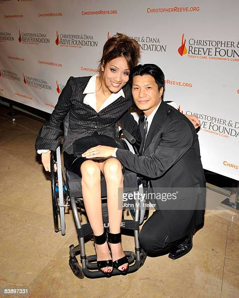 Angela Rockwood and Dustin Nguyen attend the 4th Annual Los Angeles Christopher Dana Reeve Foundation Gala Honoring Jane Seymour and Sam Schmidt on...