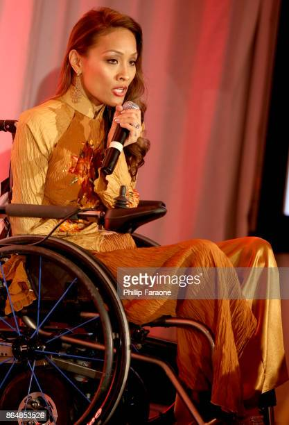 Angela Rockwood speaks at Jane Seymour And The 2017 Open Hearts Gala at SLS Hotel on October 21 2017 in Beverly Hills California