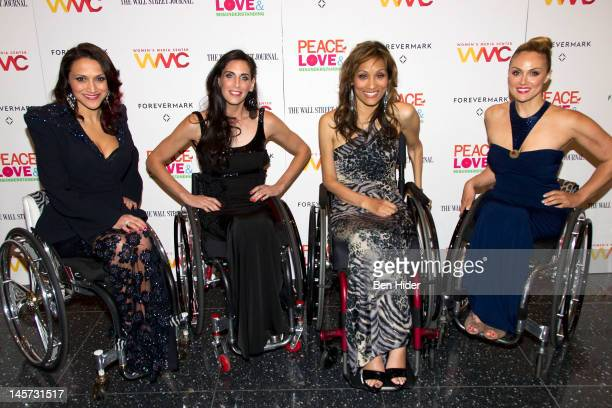 Angela Rockwood Tiphany Adams Mia Schaikewitz and Auti Angel of the Push Girls attend the Peace Love And Misunderstanding New York Screening at MOMA...