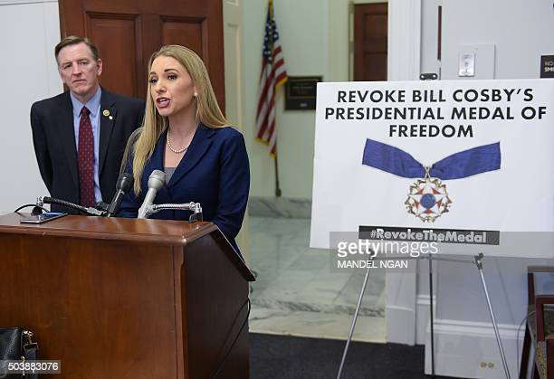 Angela Rose executive director of Promoting Awareness Victim Empowerment speaks during a press conference on January 7 2016 to announce legislation...