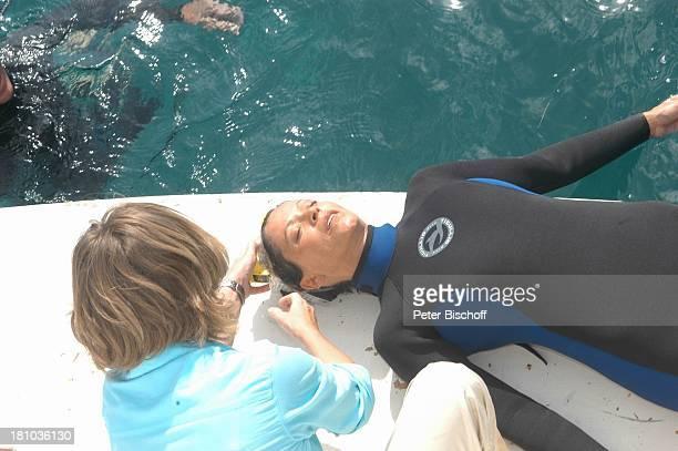 Angela Roy Maria Bachmann Dreharbeiten zum ZDFFilm 'Eine Mutter zum Geburtstag' Puerto Morelos/Mexico/Golf von Mexico/Mittelamerika MotorYacht...