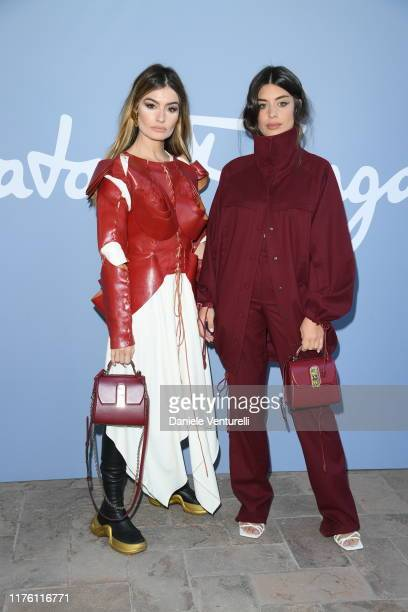 Angela Rozas Saiz and Aida Domenech attend the Salvatore Ferragamo show during Milan Fashion Week Spring/Summer 2020 on September 21 2019 in Milan...