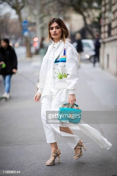 Angela Rozas Saiz is seen during Paris Fashion Week Womenswear Fall/Winter 2019/2020 on March 01, 2019 in Paris, France.