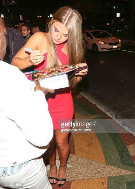 Angela Rummans is seen on September 27 2018 in Los Angeles California