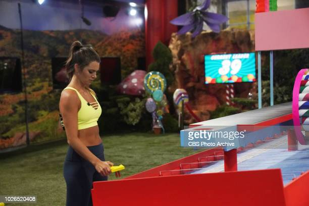 Angela Rummans playing the HOH Comp 'Sweet Shot' on Big Brother BIG BROTHER follows a group of people living together in a house outfitted with 94 HD...