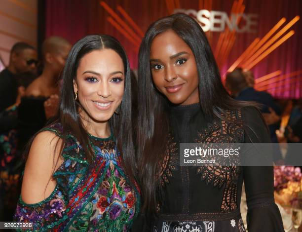 Angela Rye and Antoinette Robertson attend the 2018 Essence Black Women In Hollywood Oscars Luncheon at Regent Beverly Wilshire Hotel on March 1 2018...