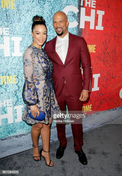 Angela Rye and Common attend the premiere of Showtime's 'The Chi' at Downtown Independent on January 3 2018 in Los Angeles California